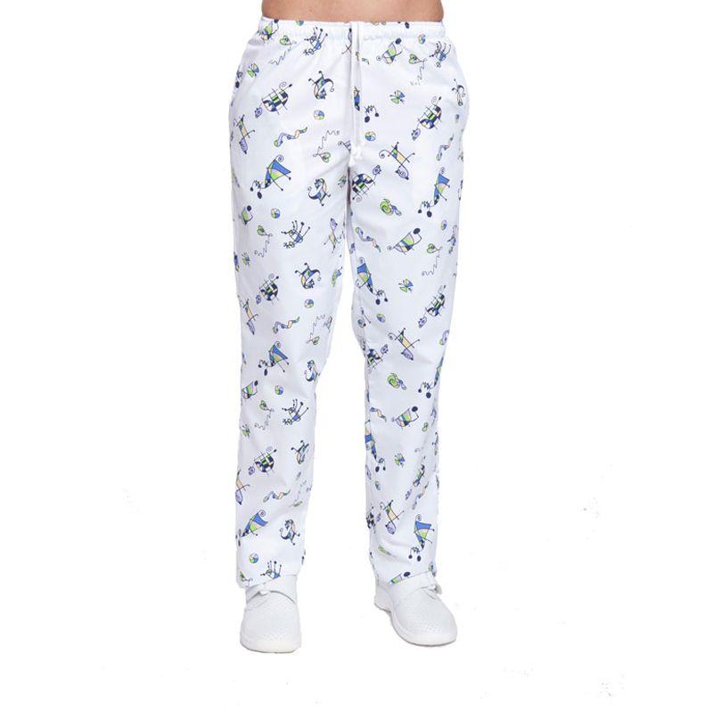 Pantalón estampado Miró con goma y cordón en cintura. Dos bolsillos ...
