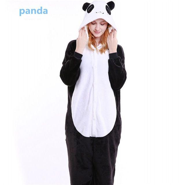 2aab611db2 Aliexpress.com  Comprar Invierno Pijama Adulto Carácter de la Franela Con  Capucha Oso de Dibujos Animados de Animales Panda Pijama Cheshire Cat  Pijamas Para ...