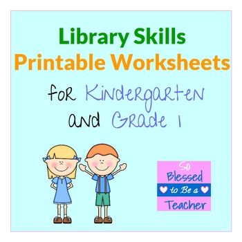Library Skills Printable Worksheets for Kindergarten and First Grade ...