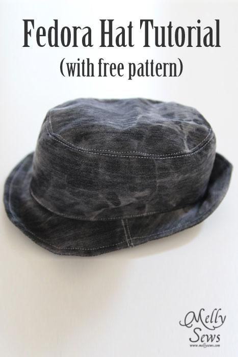 Fedora Hat Tutorial and Pattern  60db1448a1a