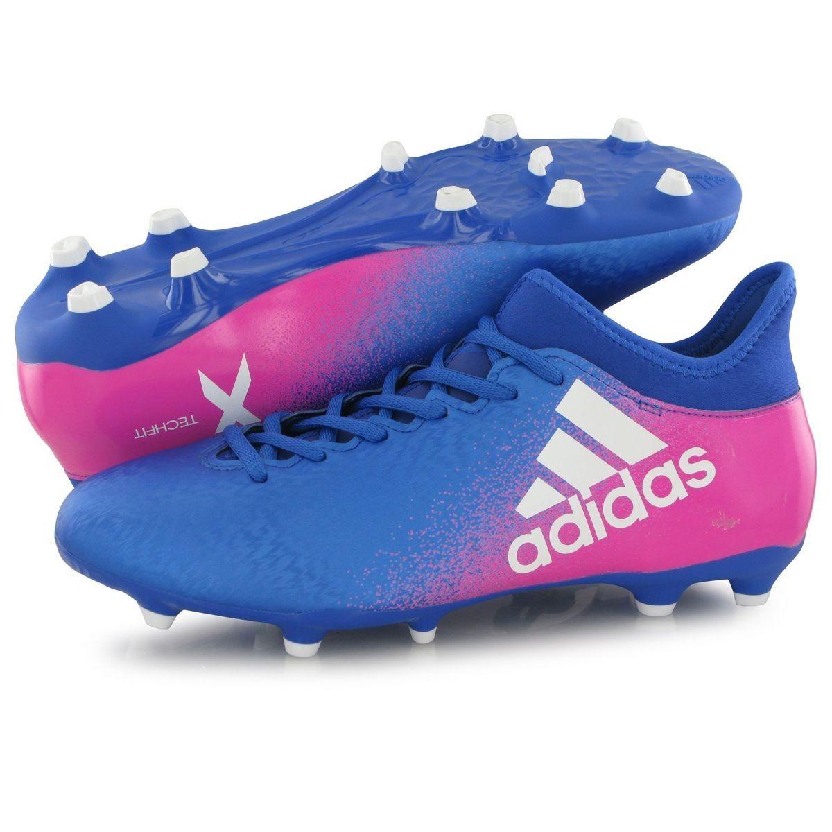 Chaussures Adidas X 16.3 Fg Bleu Homme - Taille : 46 | Chaussure ...