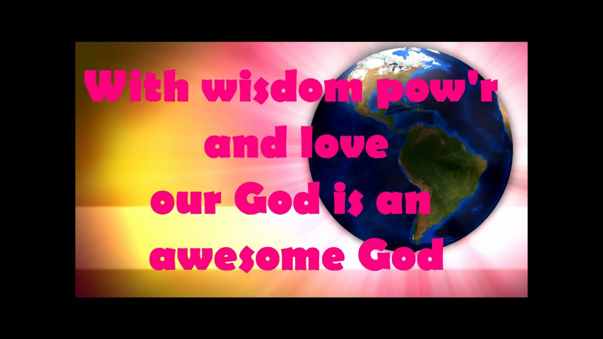AWESOME GOD - Children's Worship song (+playlist) | Visual