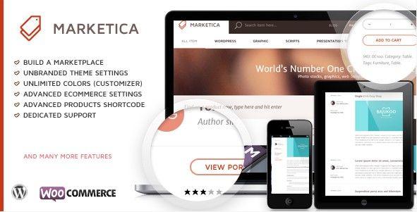 WordPress – Marketica – Marketplace WordPress Theme | Ideas for the ...