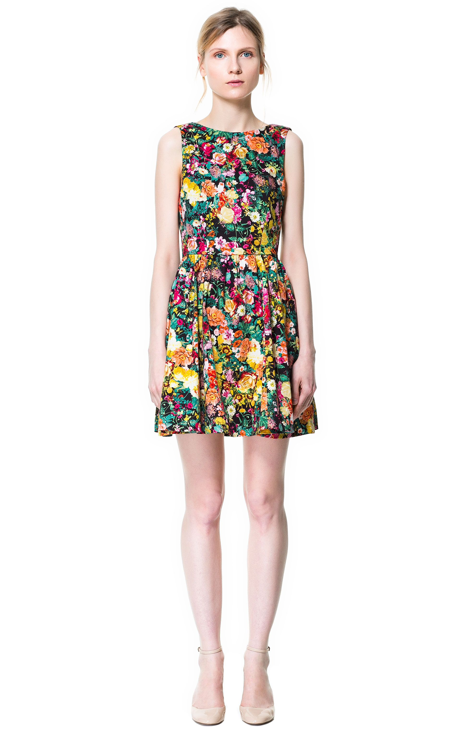 924f3987 Pleated Printed Dress £39.99 from Zara | Blog: Double Thumbs Dresses ...