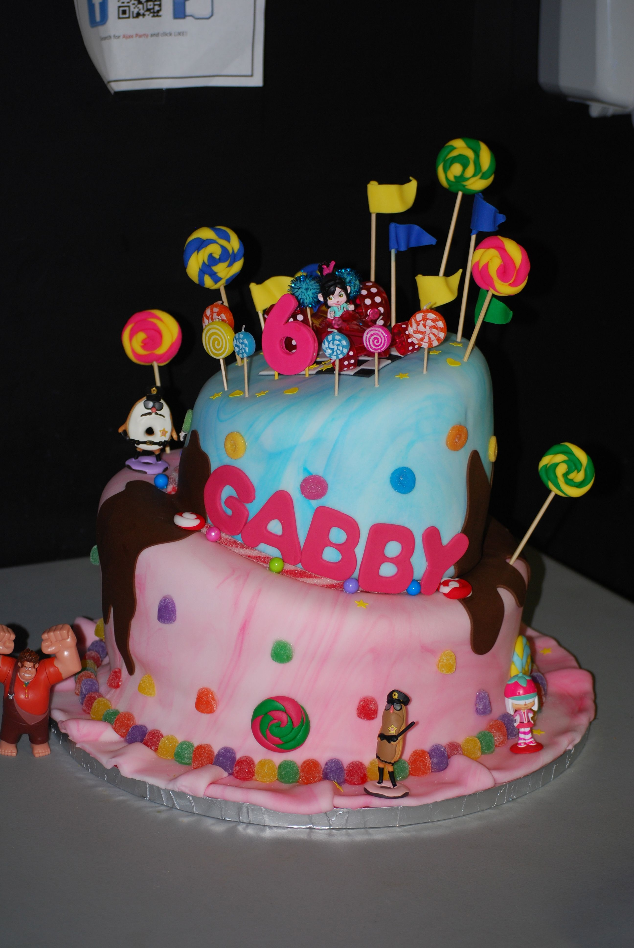 Sugar Rush Cake Made By Me For Gabby S 6th Bday Cakes