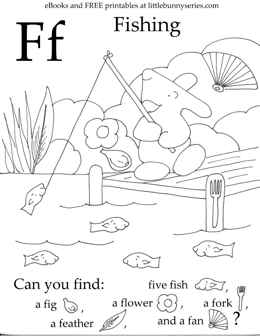 Letter F Seek and Find PDF (With images) Fun preschool