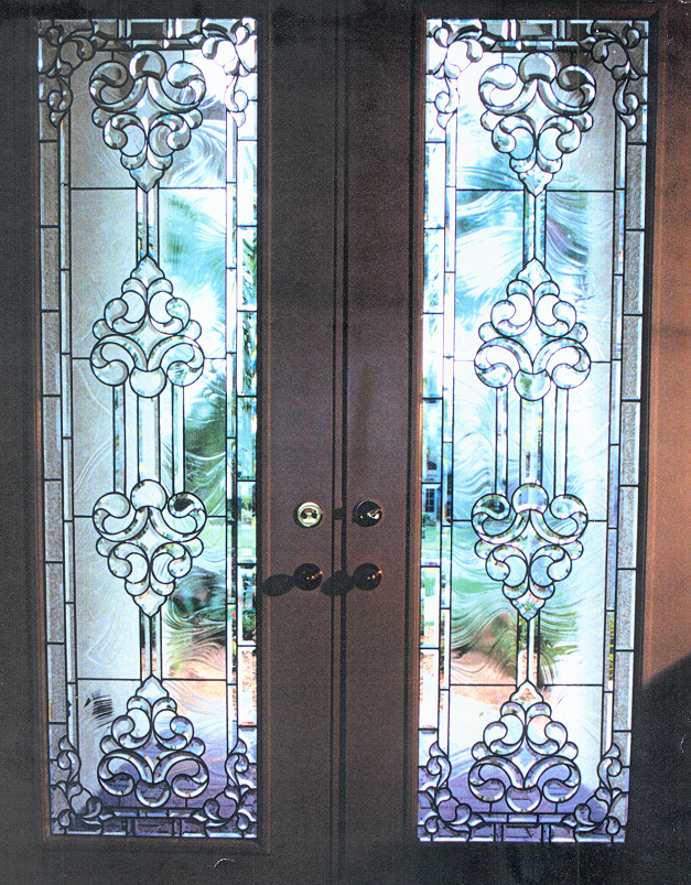 Leaded Glass Inserts Custom Door Insert Examples Samples Of