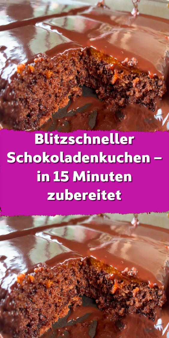 Blitzschneller Schokoladenkuchen – in 15 Minuten zubereitet