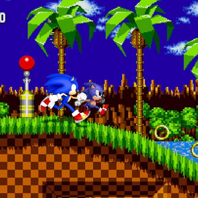 Personagens de games posam com suas versões antigas