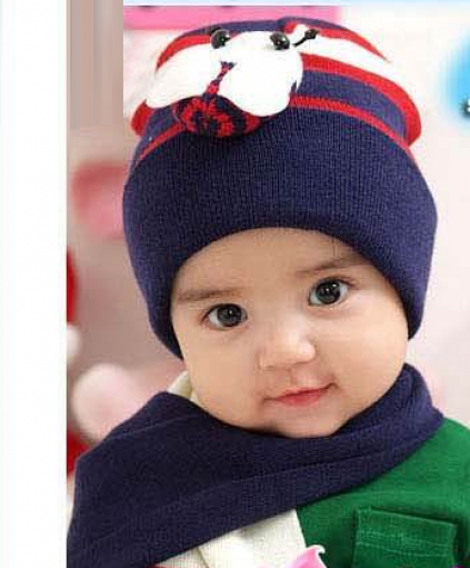 Buy Online Navy Blue Set of Warm Cap and Cute Muffler for Young Kids ... 40f2548e98f0
