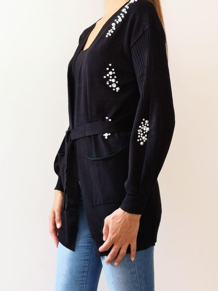 MIMI MUA AFI83095 abbigliamento Maglia Donna Cardigan 2018 019 moda inverno  nero IN PROMOZIONE SOLO 0419b9ed911