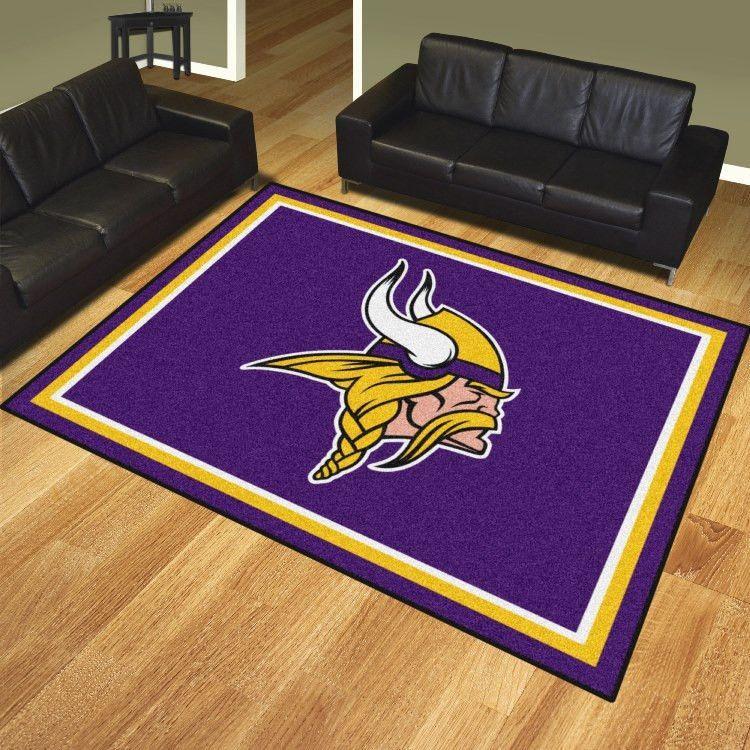 Minnesota Vikings 8x10 Rug