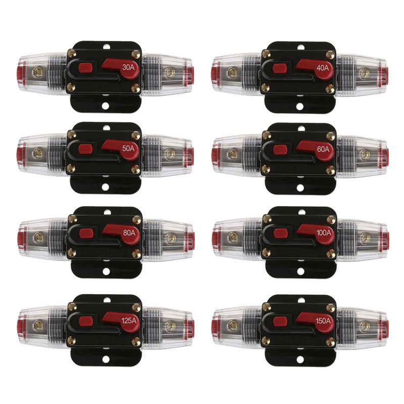 Car Audio 60/80-Amp Circuit Breaker Manual Reset Switch Agu Fuse ...