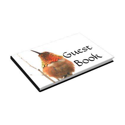 Hummingbird Bird Wildlife Animals Guest Book - photography gifts diy custom unique special