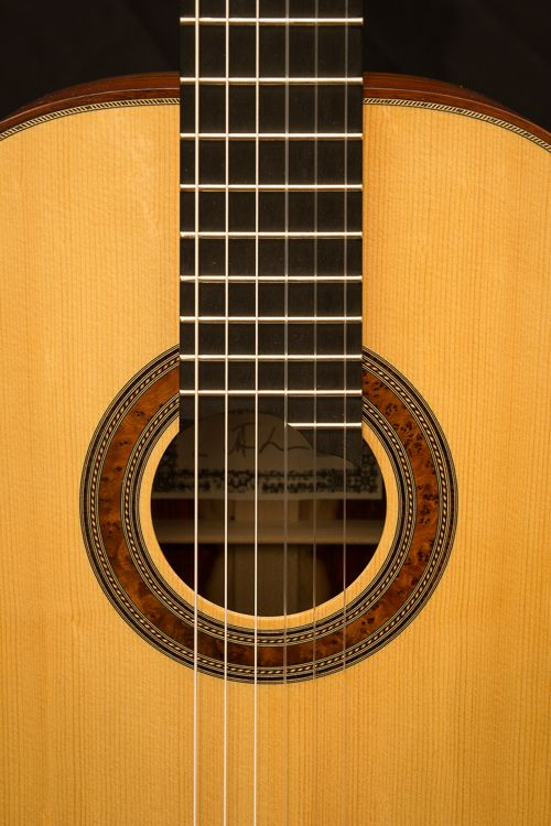 Jasper Sender Luthier Guitare Double Tables Classical Guitar Guitar Luthier