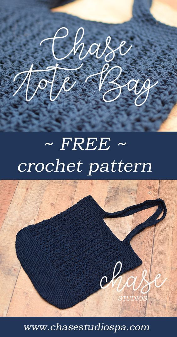 Chase Tote Bag Market Bag Free Crochet Pattern Cotton Yarn Crochet