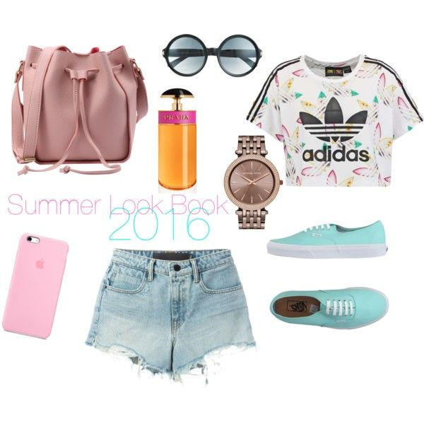 Summer Look Book 2016: Make me Blush by chymereanais on Polyvore featuring adidas Originals, T By Alexander Wang, Vans, MICHAEL Michael Kors, Tom Ford and Prada