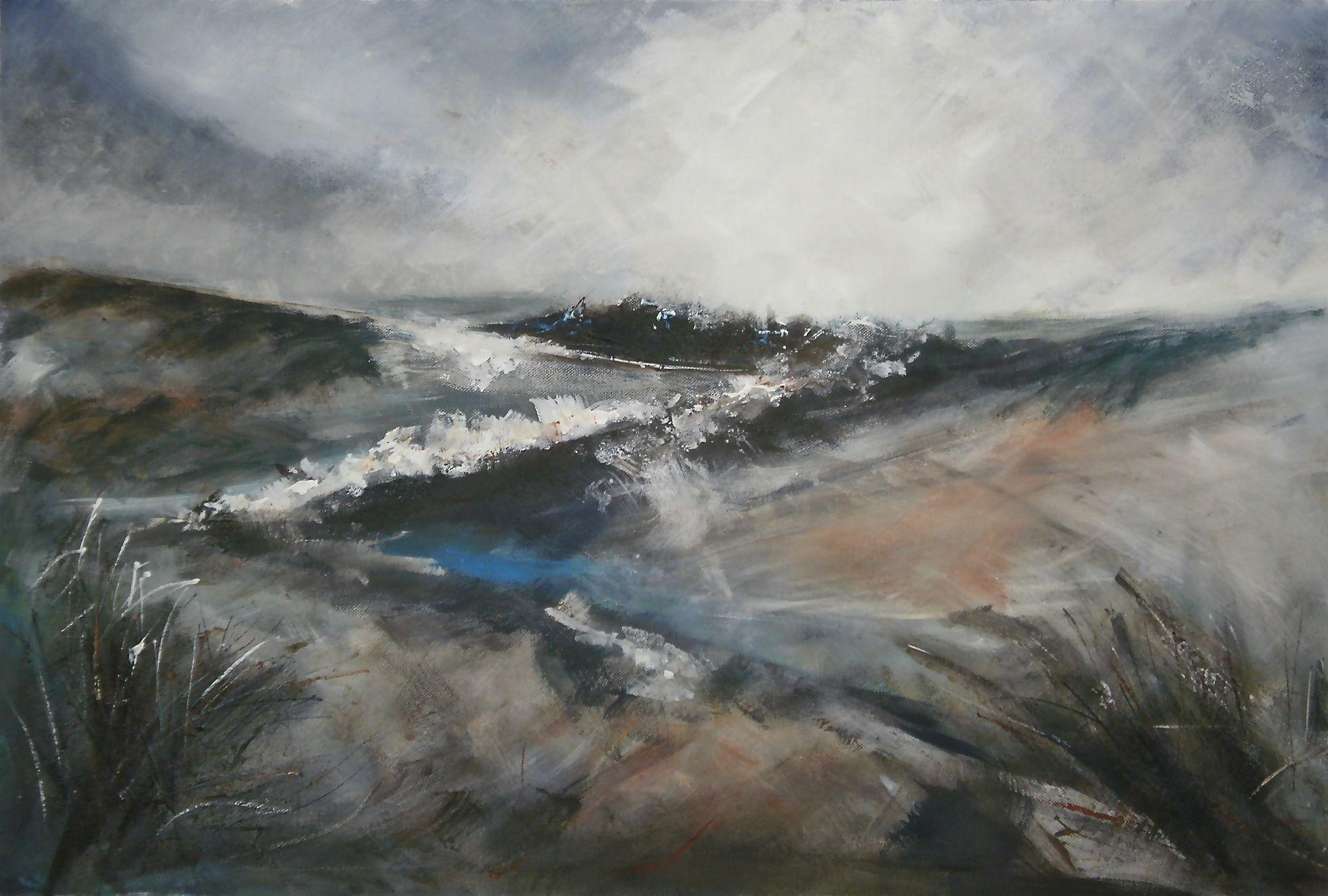 "A Winter's Vale  (acrylic on canvas) 30""x20"""