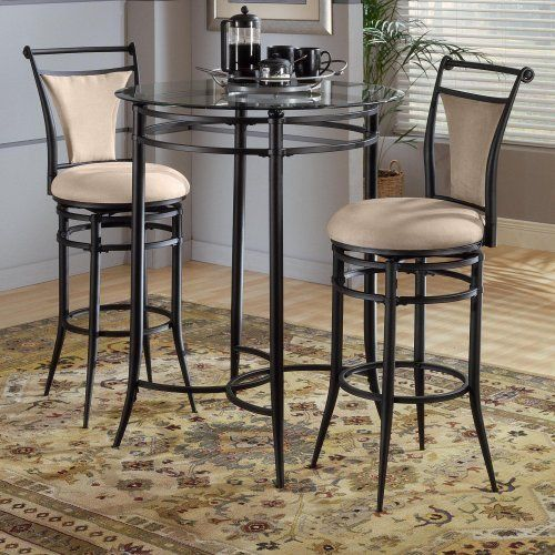 Cierra Swivel Barstool Beige by Hillsdale Furniture. $149.00. The Mix N Match bistro set is both contemporary and versatile. Available in black metal with a glass top and 6 choices of matching stools. Note: This is only for the Cierra Swivel Barstool. All other items in this collection are sold separately.