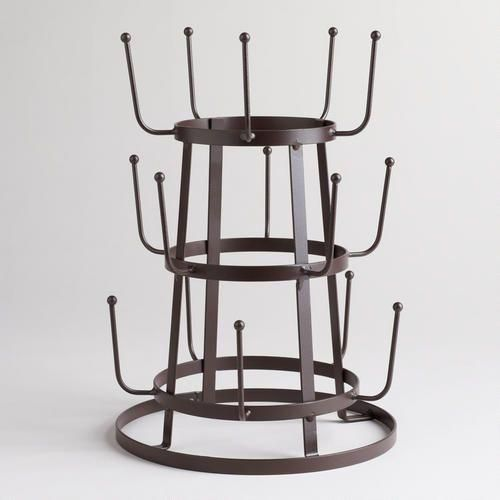 Wire 3-Tier Glass Drying Rack
