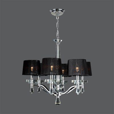 Worldwide Lighting W83135C26 Gatsby 6 Light Chandelier