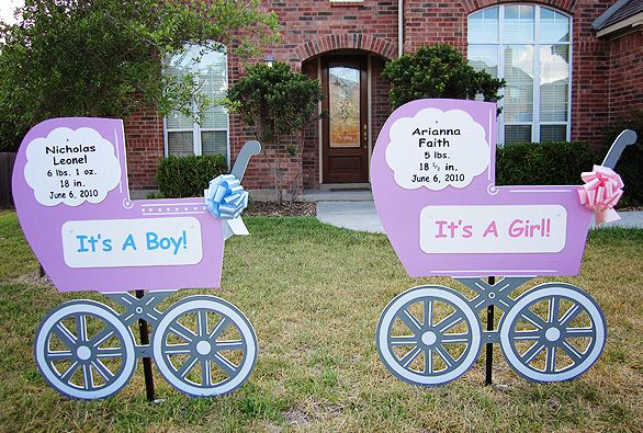 START YOUR OWN BUSINESS put birth announcement signs in the yards – Baby Announcement Lawn Signs