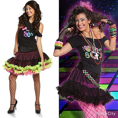 be like totally 80s rock your look with gobs of bangles halloween costume - 80s Rocker Halloween Costume