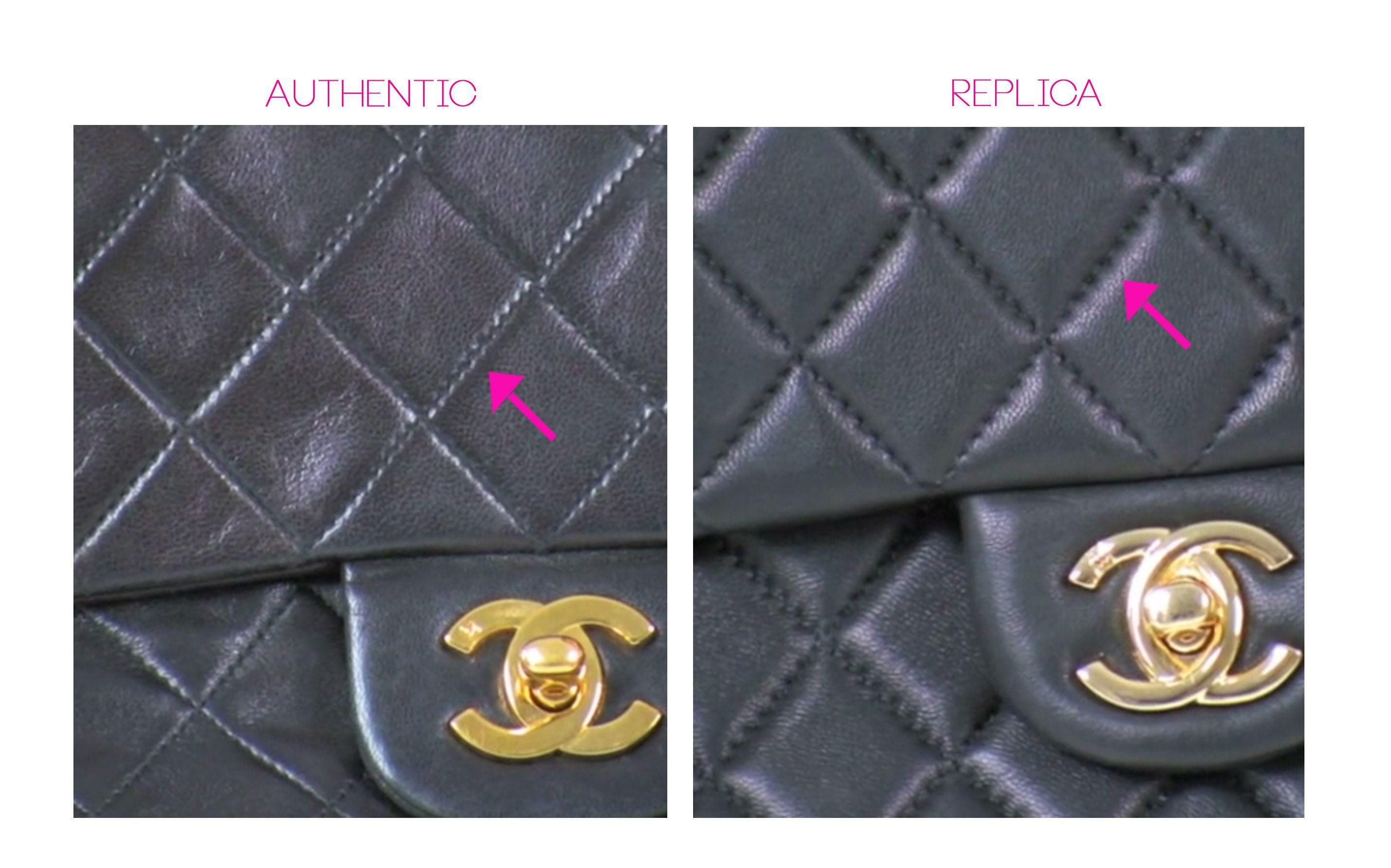 6c8b28ac44ae Stitch Count on Chanel Classic Flap Bag, Authentic Chanel handbags Boca  Raton, #Chanelhandbags