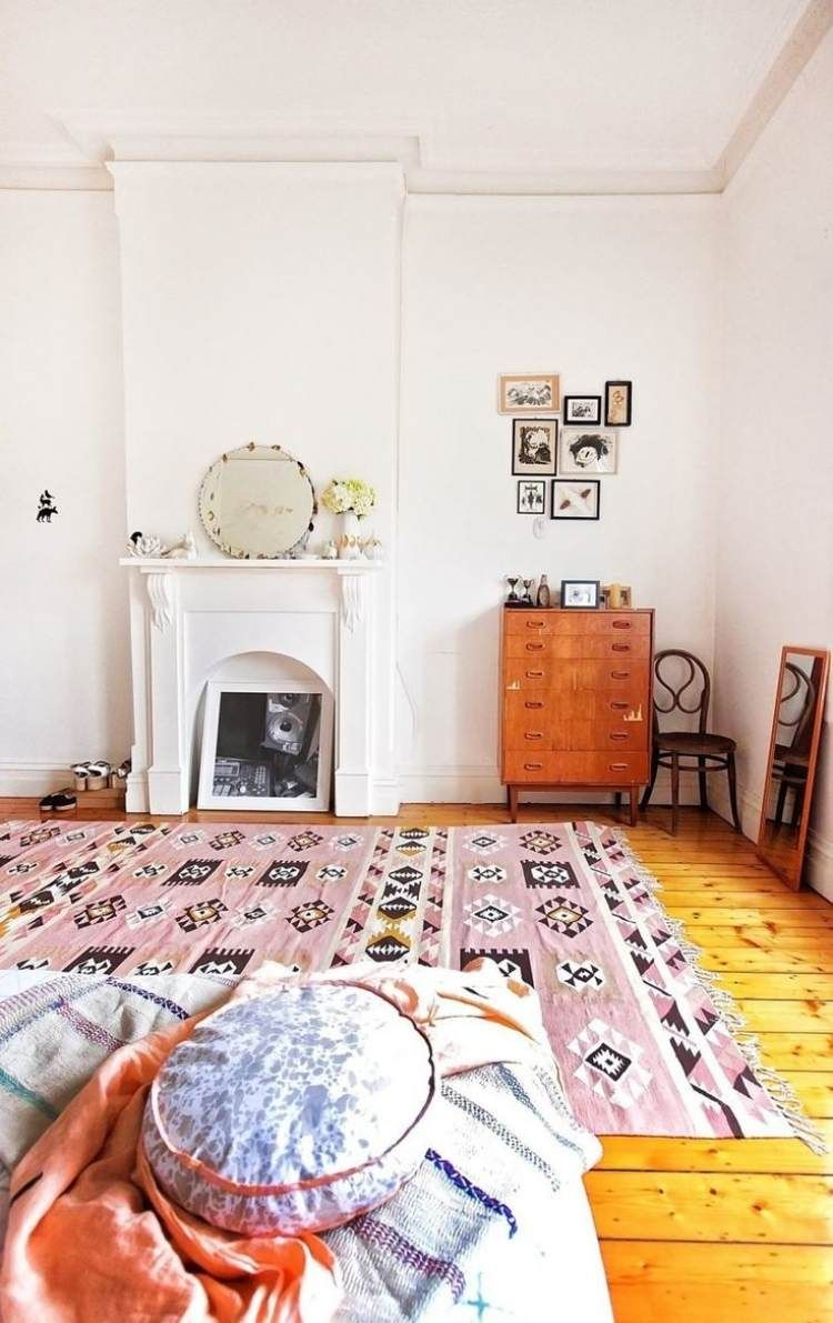 Chambre Boheme Atmosphere Romantique En Blanc Deco Maison