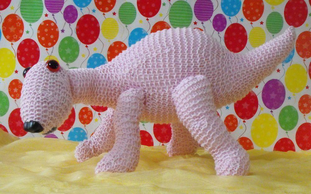 Nursery baby dinosaur toy knitting pattern - madmonkeyknits.com ...
