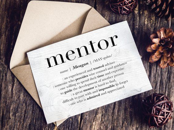 Personalized Mentor Card Gift For Boss Custom Thank You Women