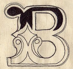Cirque Letter B Design UT3667 From UrbanThreads