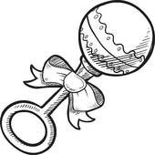 Baby Girl Holding Bright Rattle In Her Hands Description From Fotosearch Com I Searched For This On Bing Co Baby Girl Clipart Baby Rattle Baby Coloring Pages
