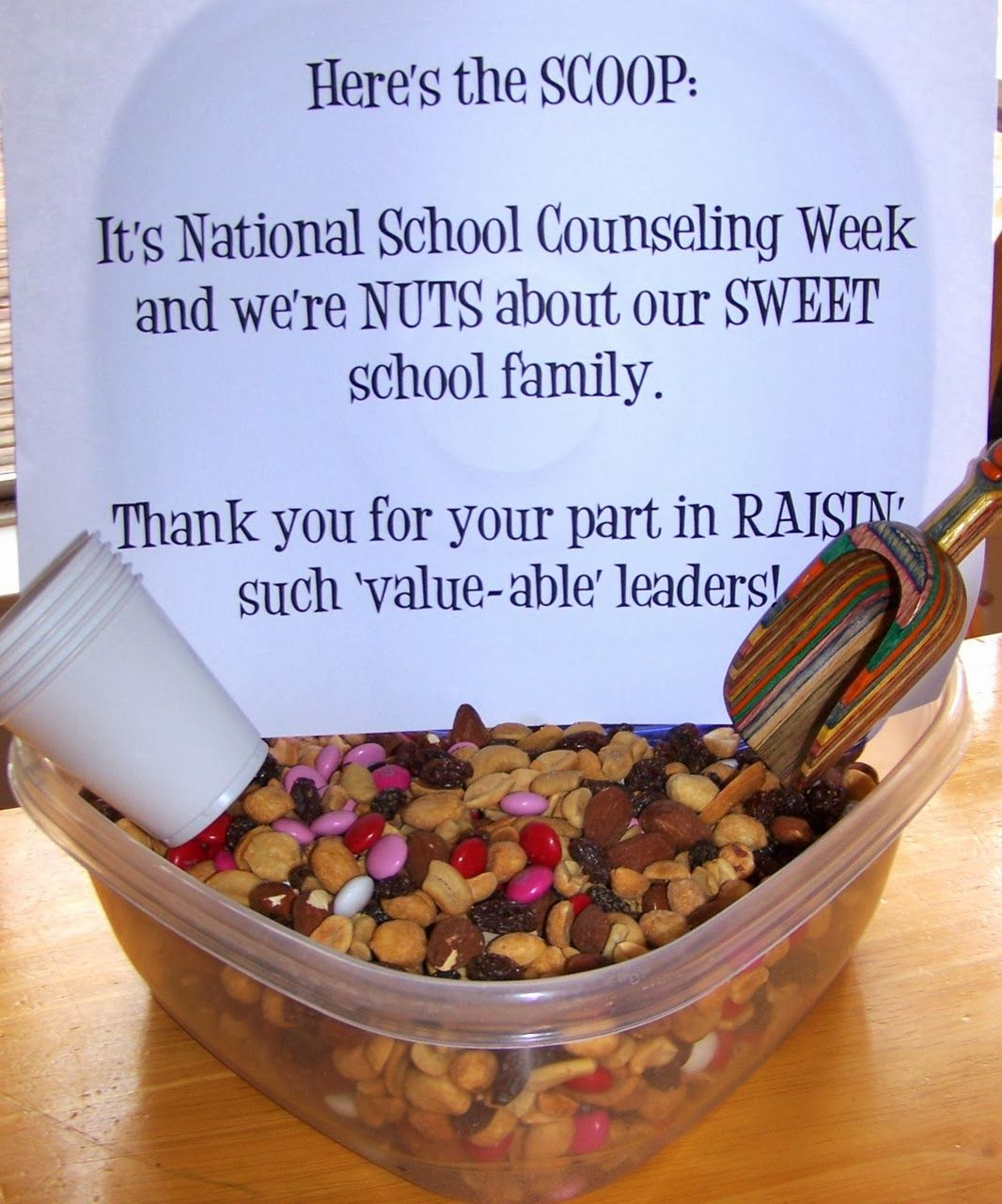 Creative Idea To Show Teacher Appreciation During National School Counseling Week We All Have Work Together Create A Great Learning Environment For