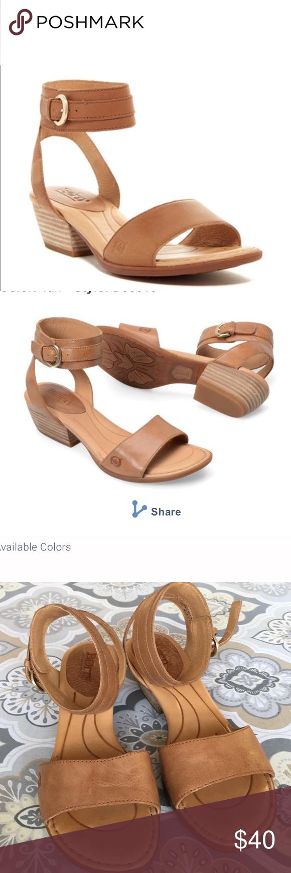 aff977e5b23 Born Beyer New 7 leather tan sandal cuff