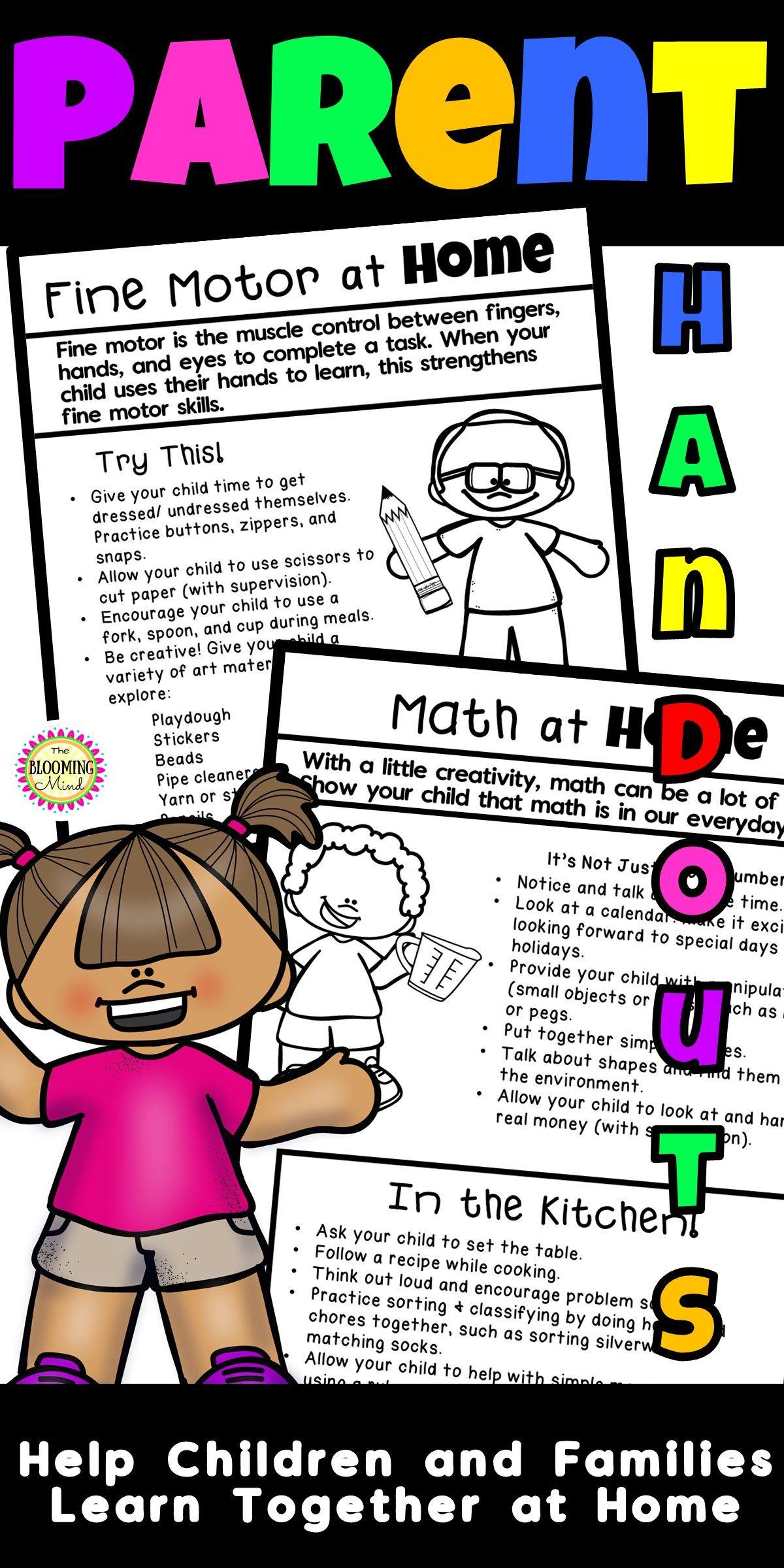 Parent Handouts For Prek Preschool