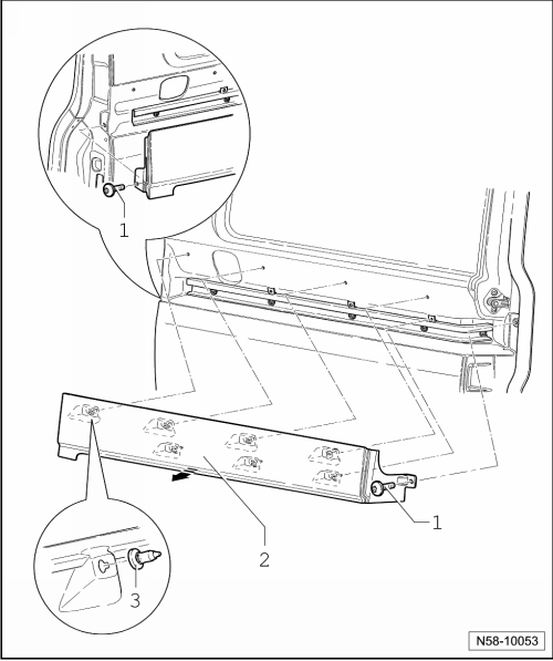 Vw T5 Tailgate Parts Diagram