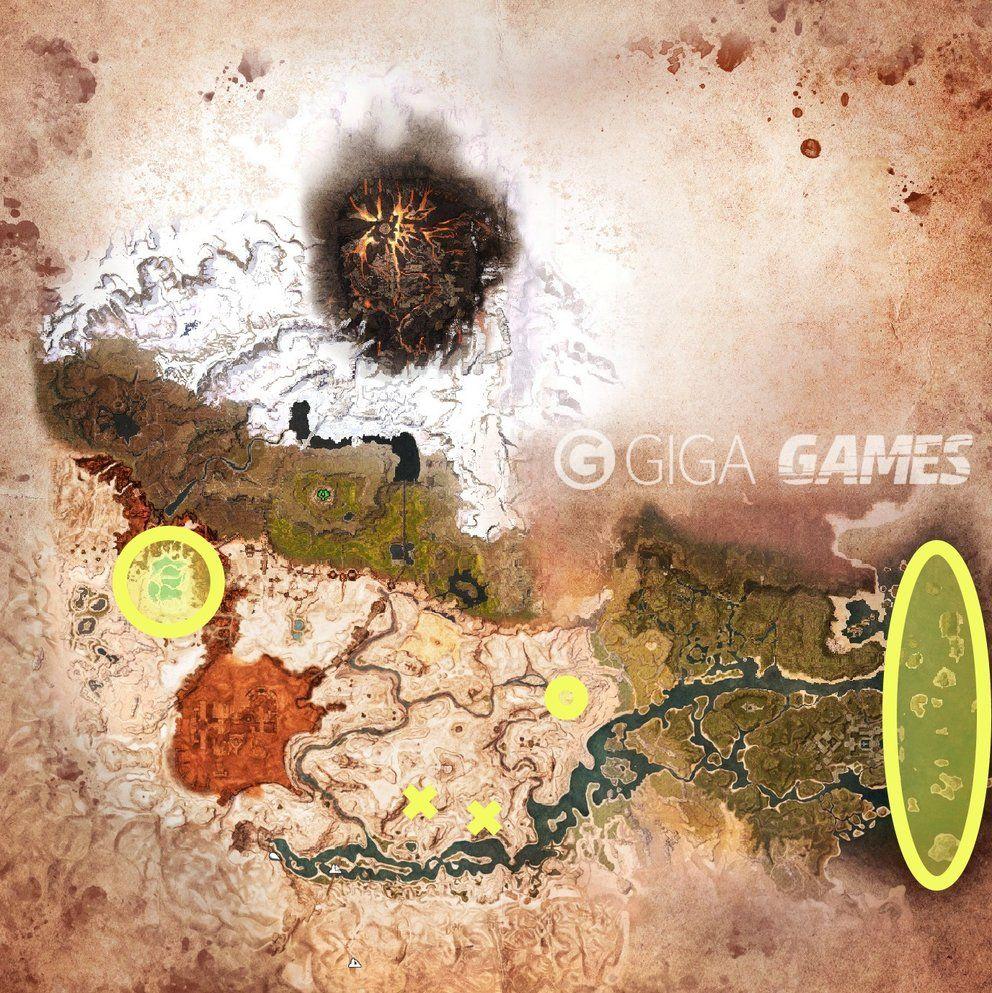 Conan Exiles Schwefel Und Teer Finden Mit Karte Conan Schwefel