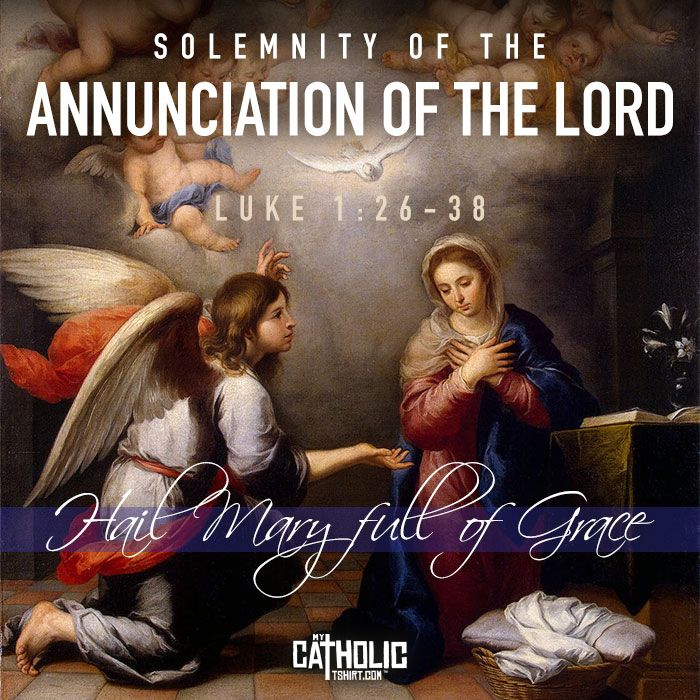 Today we celebrate the Solemnity of the #AnnunciationoftheLord. The great YES! #FeastDay #ProLife #mycatholictshirt