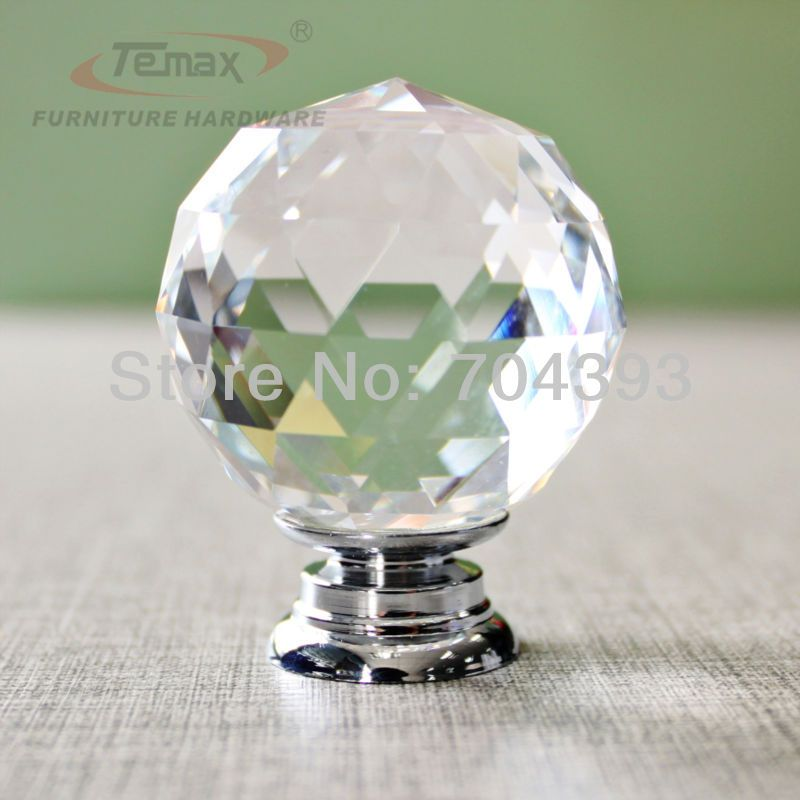 New Crystal Cabinet Door Knobs