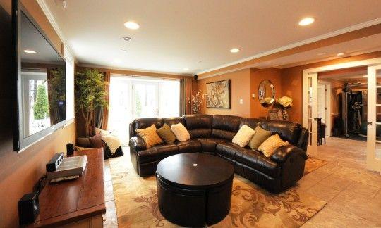 Elegant Ideas for Decorating Basement Family Room