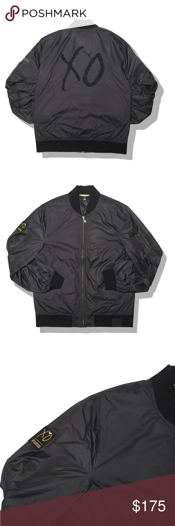 Men S Puma X Xo The Weeknd Bomber Jacket Fashion Clothes Design Fashion Design [ 1740 x 580 Pixel ]