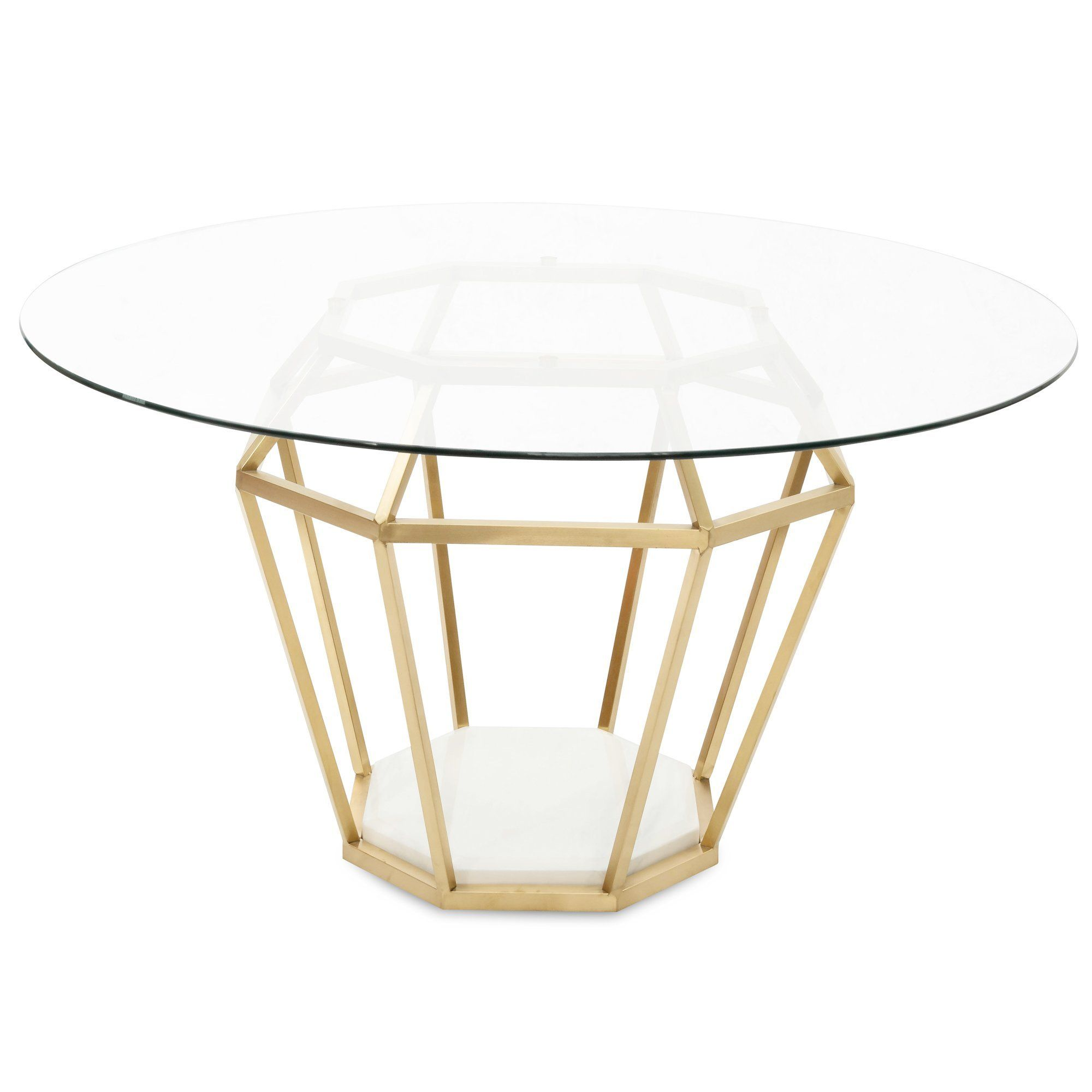 Noosa 1 4m Diameter Round Dining Table Brushed Gold Base Round