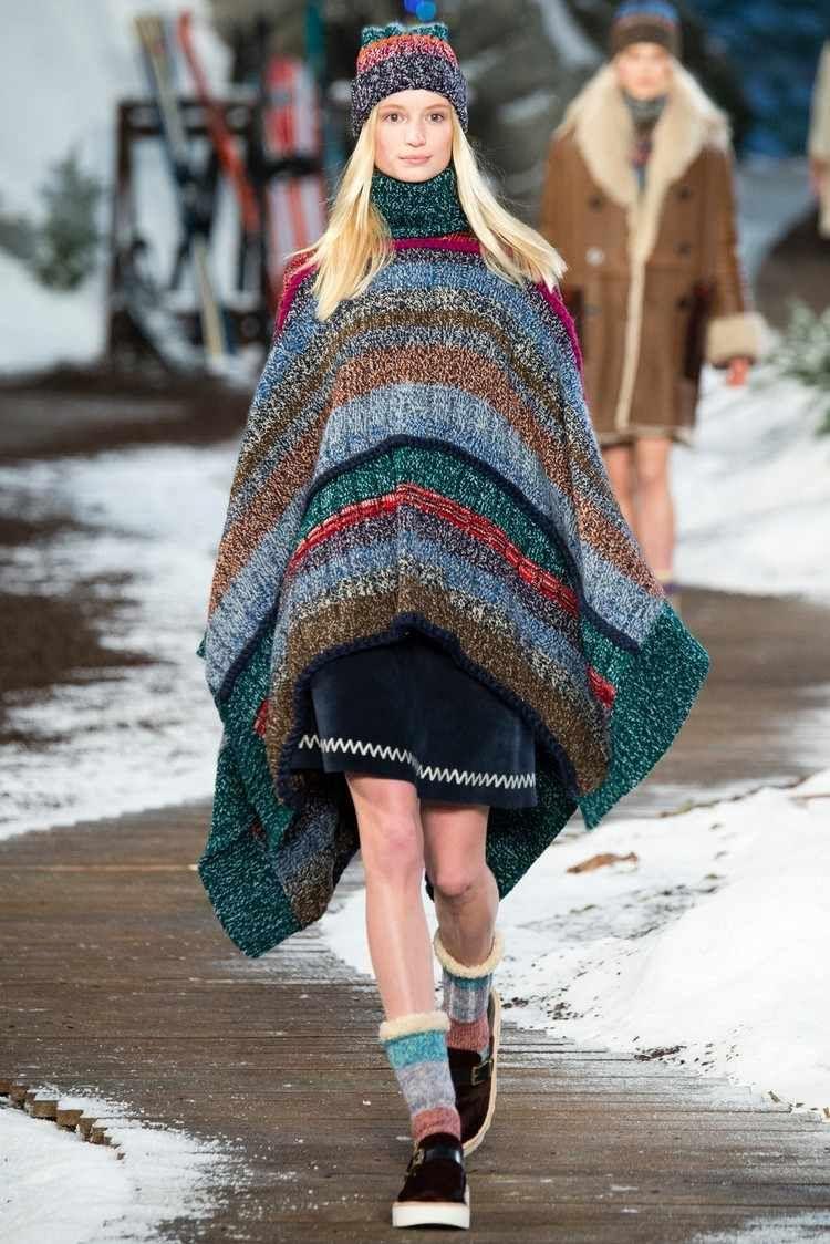 Comment porter un poncho femme ou une cape en automne – hiver 2017 2018 en 6695b215d15