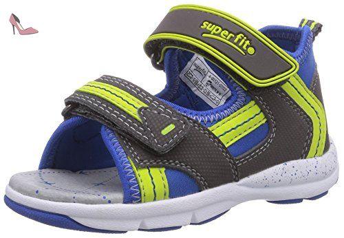 Superfit Lumis Mini, Sneakers Basses Garçon - Gris - Grau (Stone Multi), 22 EU