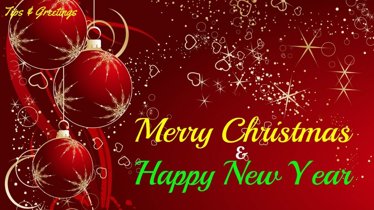 merry christmas and happy new year greetings for everyone