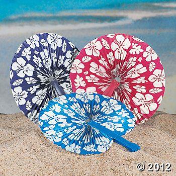 Hibiscus Folding Fans: $3.75/dozen