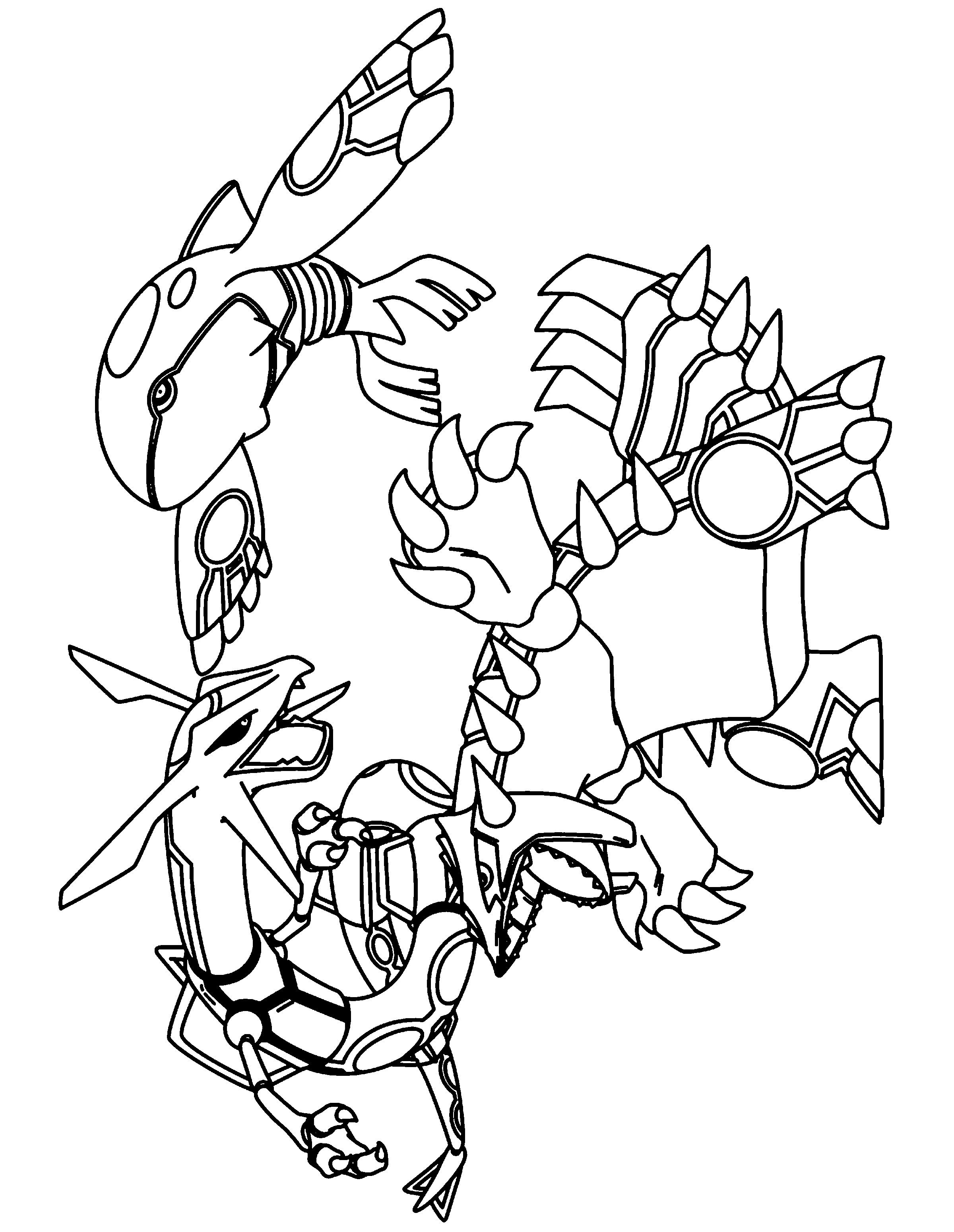 Legendary Pokemon Pictures to Color