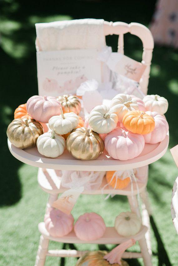 Pink pumpkin baby shower | Wedding & Party Ideas