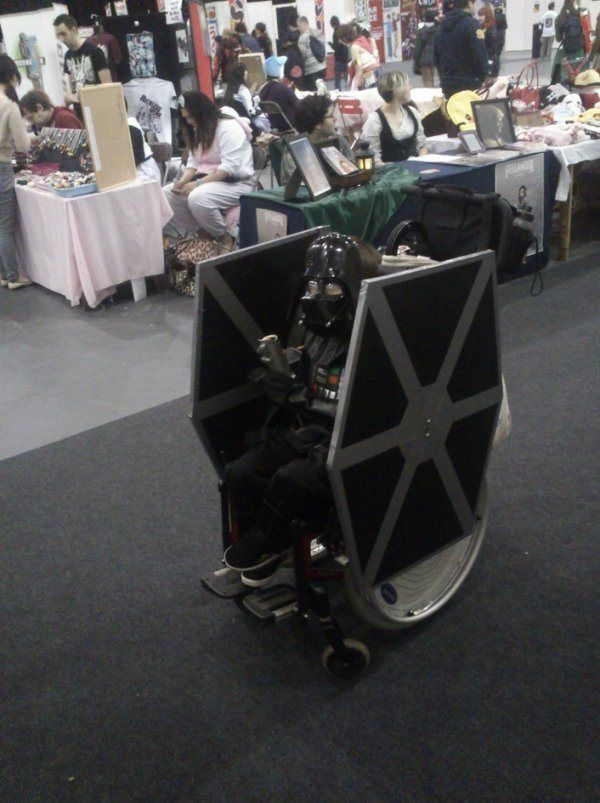 Awesome parents!  Darth Vader, Tie Wheelchair.